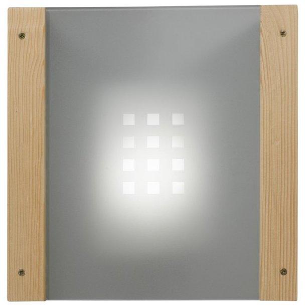 Lampeskærm i glas til hjørnemontage