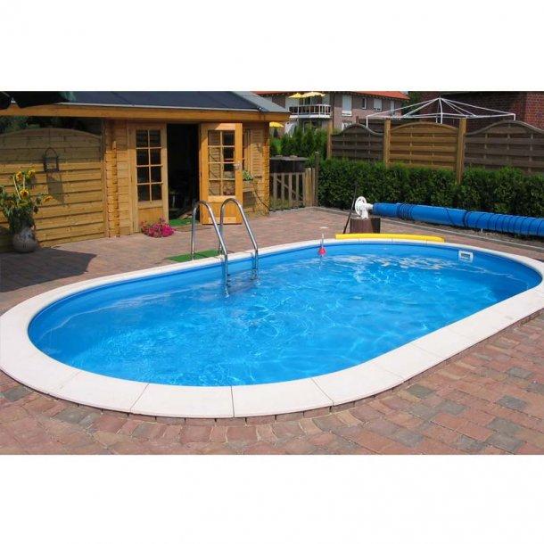 Oval swimmingpool - Dybde 1,2 m