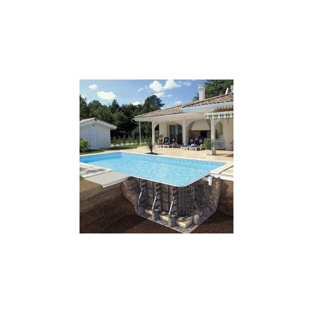 PPP swimmingpool med lige trappe - Dybde 1,5 m