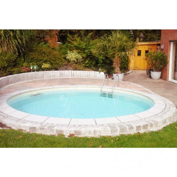 Rund swimmingpool - Dybde 1,2 m