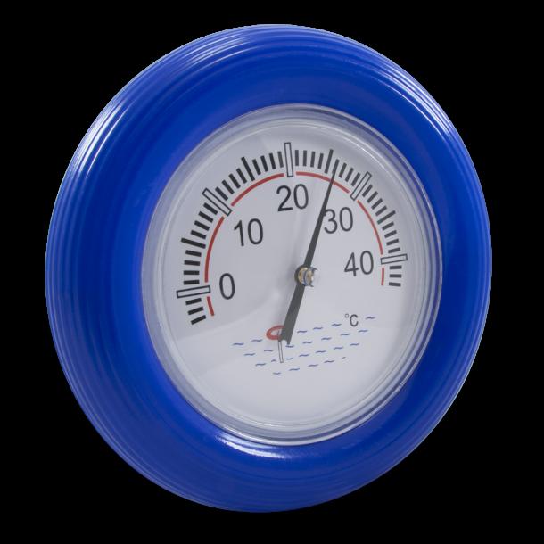 Termometer med blå ring til pool